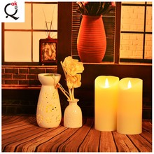 >>>>Fashion custom 75mm*175mm red colorful flameless electric wax candle for religious activities/