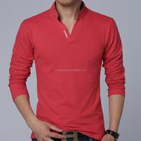 2015 New Fashion Brand Men Clothes Solid Color Long Sleeve Slim Fit T Shirt Men 100% Cotton T-Shirt Spring Casual T Shirts xxxxX