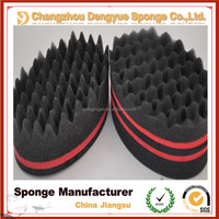 2015 Best Selling The oval curl sponge In America Salon Magic double sides hair twist sponge For Black Man