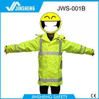 wholesale sweat PU coated reflective rain suit