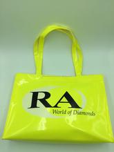 China wholesale neon yellow PVC bag/handbag for shopping/traveling bag