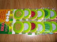 Round sponge scrubber for kitchen cleaning