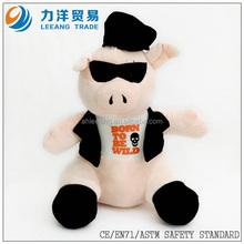 gentleman plush pig for kids, Customised toys,CE/ASTM safety stardard