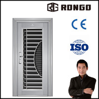 Top safety steel grill door design