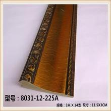 Wholesale Bulk Hot Sale Carving 24k Gold Home Skirting Line Decorative Plastic Construction Ps Frame Moulding