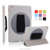 Best Selling Smart Handheld PU 360 Degree Rotating Back Cover Auto Wake Up Case for iPad Air 2 for iPad 6