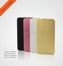 Colorful 4000mah Usb Power Bank Charger External Battery With 2gb Memory
