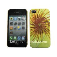 Fashion PC phone cases for iphone 4 with water sticking picture