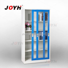 hot sale luxury sliding door steel filing cabinet with entire body glass