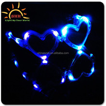 2015 Hot Popular heart shape Led glowing Sunglasses heart shape glasses for party or wedding