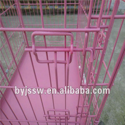 Folding Dog Cage With Plastic Pallet ,Wire Dog Crate , Wholesale Dog Kennel