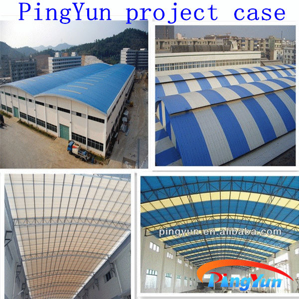 Anti uv one layer PVC roofing sheet/Anti corrosion plastic tile roof/pvc plastic roofing tiles