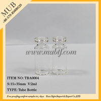 15x35mm size empty clear glass test tube vial for medicine wholesale