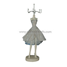 Fashion resin mannequin display Jewelry Doll, jewelry doll stand black