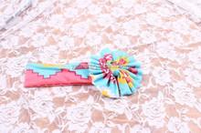 Low moq in stock newborn kids handmade headbands kids boutique fall sport wear aztec headbands 0-10 month baby headbands in yiwu