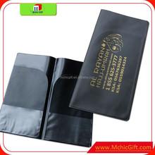 Promium weld custom print pvc plastic air ticket holder
