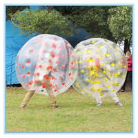 TPU 1.0mm inflatable bumper ball,human sized hamster ball for kids