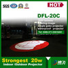 20w led outdoor projector screen stationary gobo image
