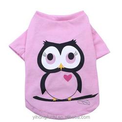 Birds pattern dog clothes wholesale plain dog t-shirts
