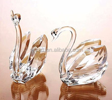 Handmade Beautiful Crystal Swan Wedding Gift Glass Swan