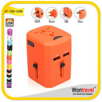 JY-163, DC plug converter, international travel adapter with USB