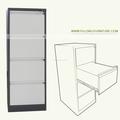 moderno preto e moldura branca 4 gavetas do armário de metal