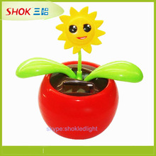 2015 CE passed newest style shaking solar flower