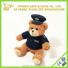 Funny design custom plice bear toy stuffed plush police teddy bear for promotion