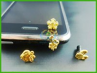 Golden brown fashion anti dust plug for phone