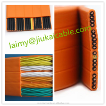 rubber or pvc jacket and construction application flat travelling elevator cable