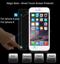 China new for one finger back tempered glass screen protector