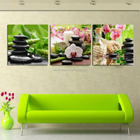 Hot Sell 3 Piece Canvas Wall Art Modern Nature Green Wedding Decoration Wall flower Home Art Picture Paint on Canvas Print decor