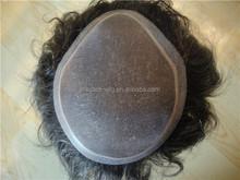 Elegant-wig pu and fine mono base small size men's toupee for sale