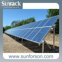 steady on off grid ground solar mounting structure frames