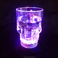 400ml/14oz Water Inductive Glowing Wine Beer Cola Cup Mug LED Glowing Skull Shape(1lot=4pcs)