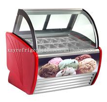 1.5m ice cream showcase, gelato display, ice cream deep freezer(Free Customized Logo Design)