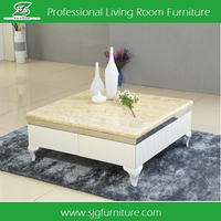 Square Elegant Marble Top Coffee Table HT-009