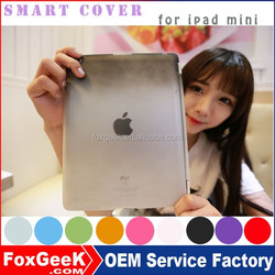 New colorful Leather Case for ipad mini with Stand and protective Cover and Partner for ipad mini