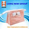 E High quality printed pvc plastic bag with button