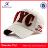 Promotional washed design 3d embroidery baseball caps