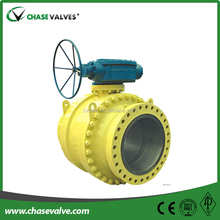 Flange type Forged steel trunnion mounted Ball Valve dn15