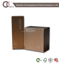 High quality Cardboard Gift Paper Box for Bravo Glass with maganet