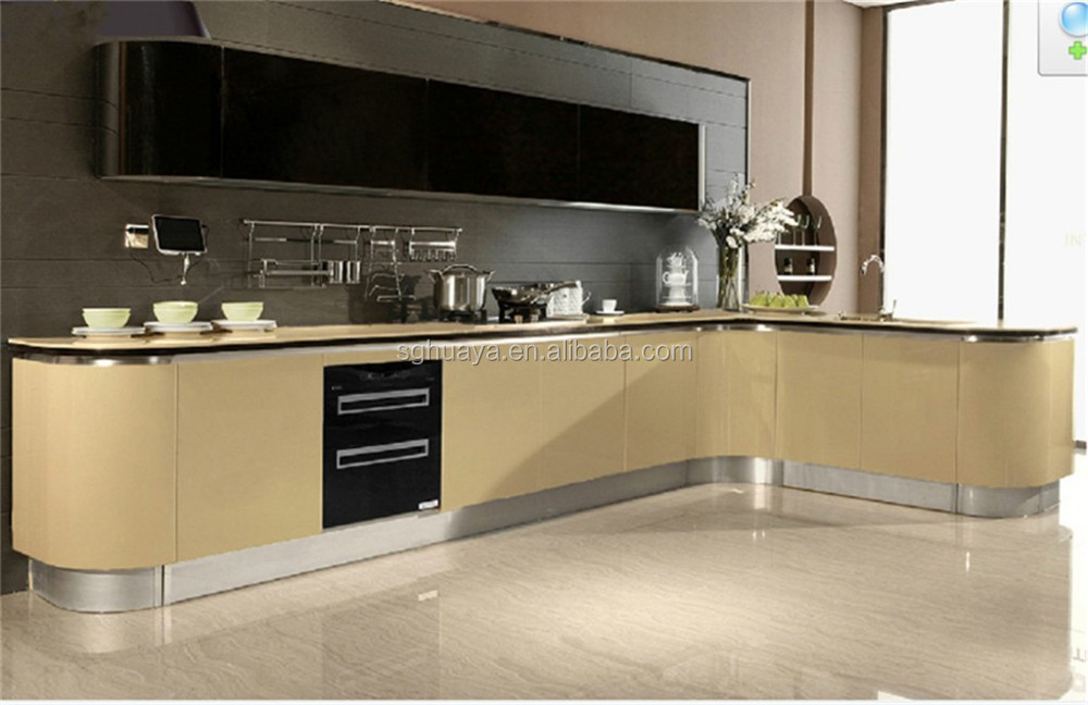 White Kitchen Cabinet,Uv Viewing Cabinet,High End Knock Down Kitchen
