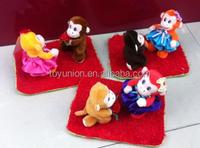 Wholesale plush hats festival monkey,winter warmth hat,monkey plush toy