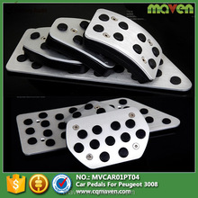 Nonslip Car Auto Vehicle Accelerator Brake Footrest Pedal Pad Cover Set For Peugeot 3008 Accessories