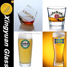 wholesale machine made glass cup&saucers glassware