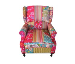 European patchwork fabric chair
