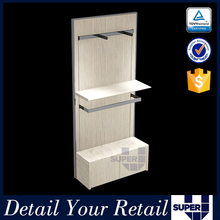high quality upright wooden wall shelf for shoe,display shelves for retail stores