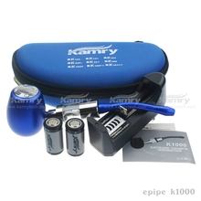 The electronic cigarette excellent quality vape mod starter kit kamry K1000 18350/900mah 510 e pipe k1000