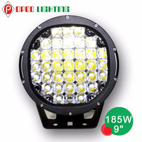 Super bright 12v led spotlight, round 4x4 car accessory 185w 12v led spotlight